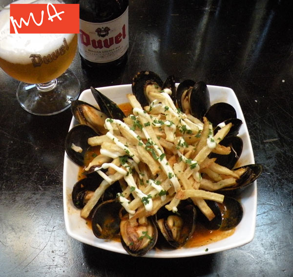 Late Summer pairing—Mussels with a frosty Duvel