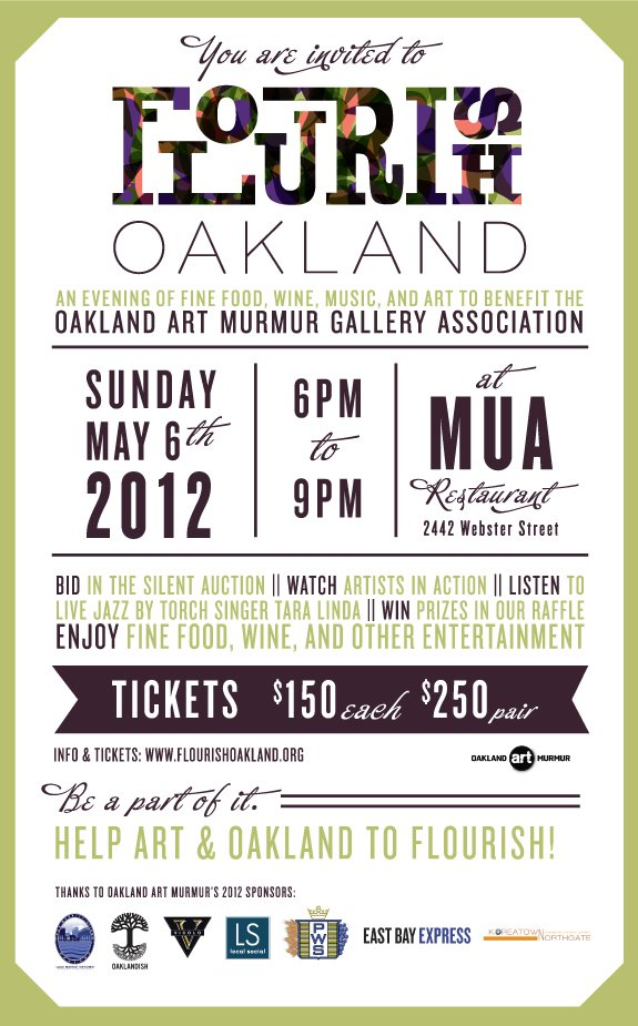 Invitation to Flourish Oakland, an Art Murmur Benefit