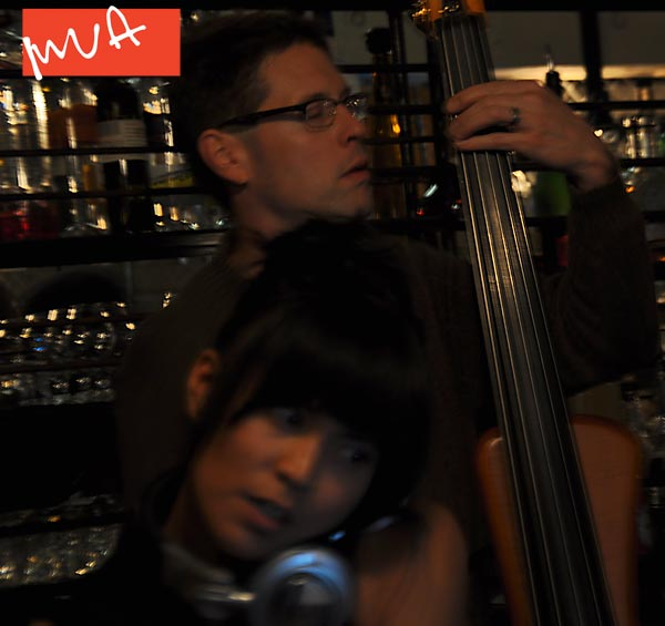 DJ Hey Love and Bass player David Arend, First Friday 12.07.12