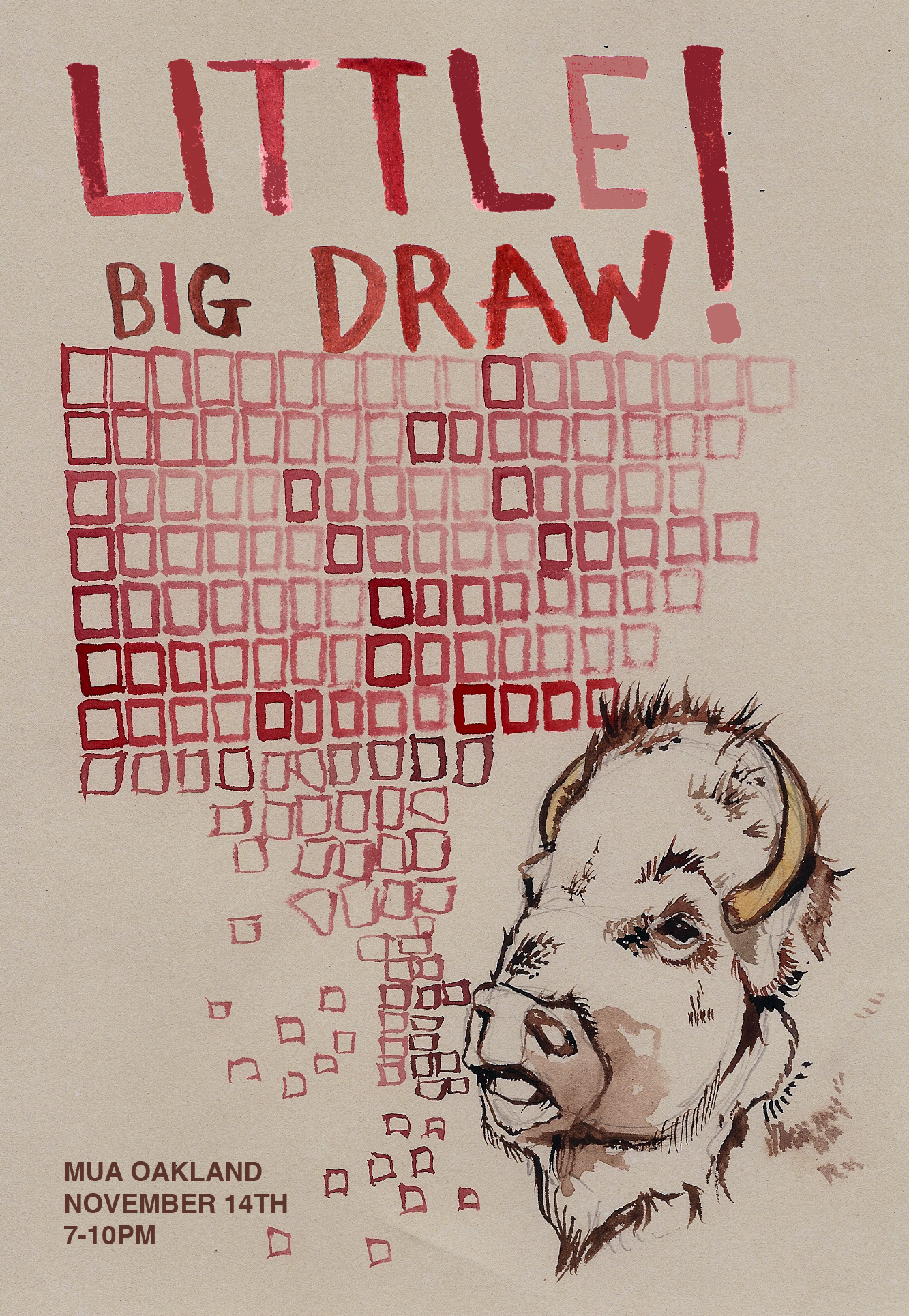 Little Big Draw, Live Drawing Event! Wednesday November 14th, 2012.