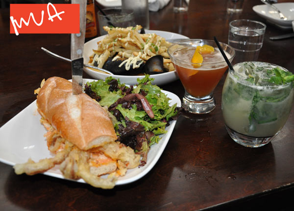 Crab Po' Boy, Mussels & Summer Cocktails